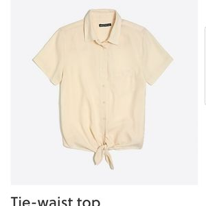 Jcrew Mercantile tie waist button up XXl